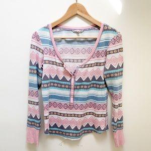 Victoria's Secret pink pastel thermal shirt size S